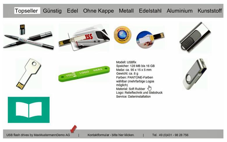 USB-Stick-Webgalerie
